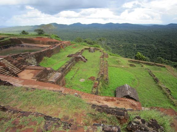 Das Plateau des Sigiriya Felsens. Foto: Wolfgang Hesseler