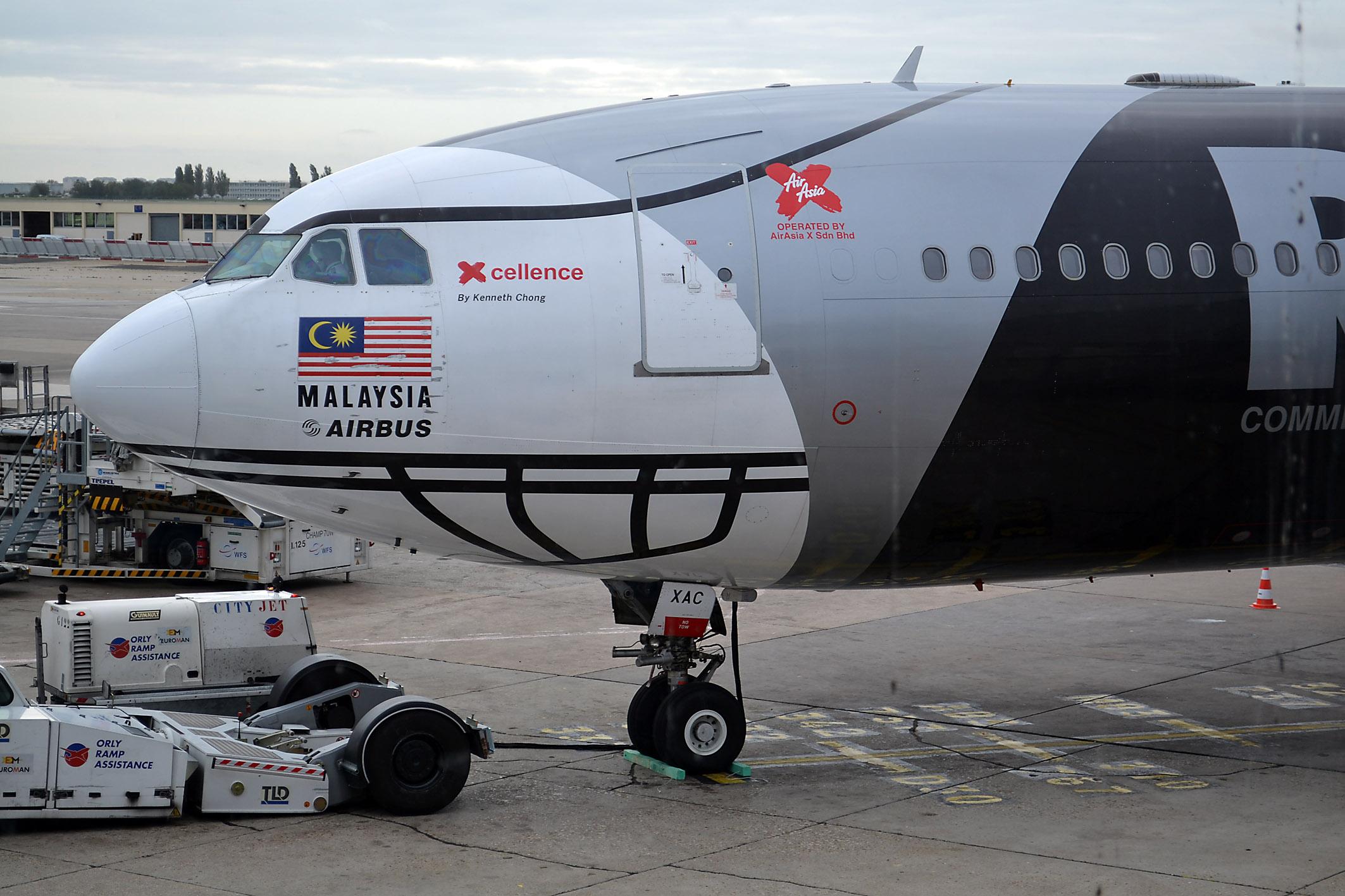 air Asia - hier ein bereits ausgeflotteter Airbus A 340-300 - fliegt wieder nach Neuseeland.  Foto: Christian Maskos